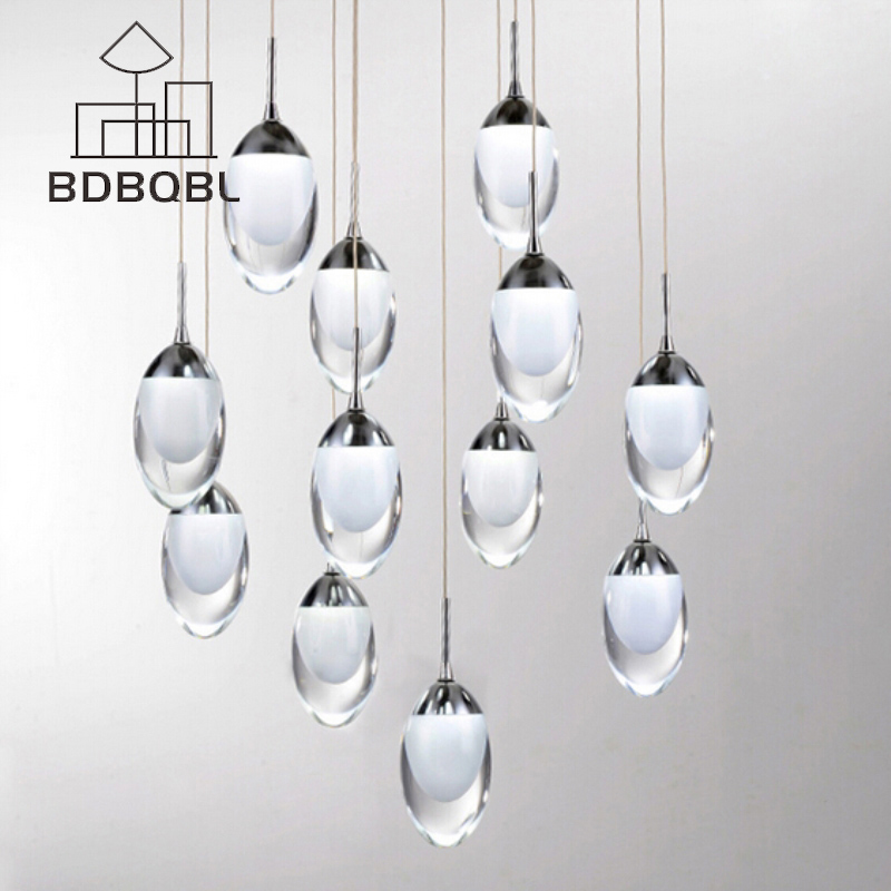 BDBQBL Modern Acrylic Pendant Lamp Loft Novelty Magic Pendant Lights LED Lighting LED Strip Indoor Lighting Dining Room Bar