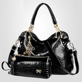 New Fashion Aliigator Composite Bag Two-Piece Shoulderbag Messenger Bag