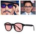 JinCool Super Star Óculos De Sol Dos Homens 2016 óculos de Sol Da Moda Do Vintage Johnny Depp Rebite Óculos de Sol Das Mulheres Designer De Marca oculos de sol