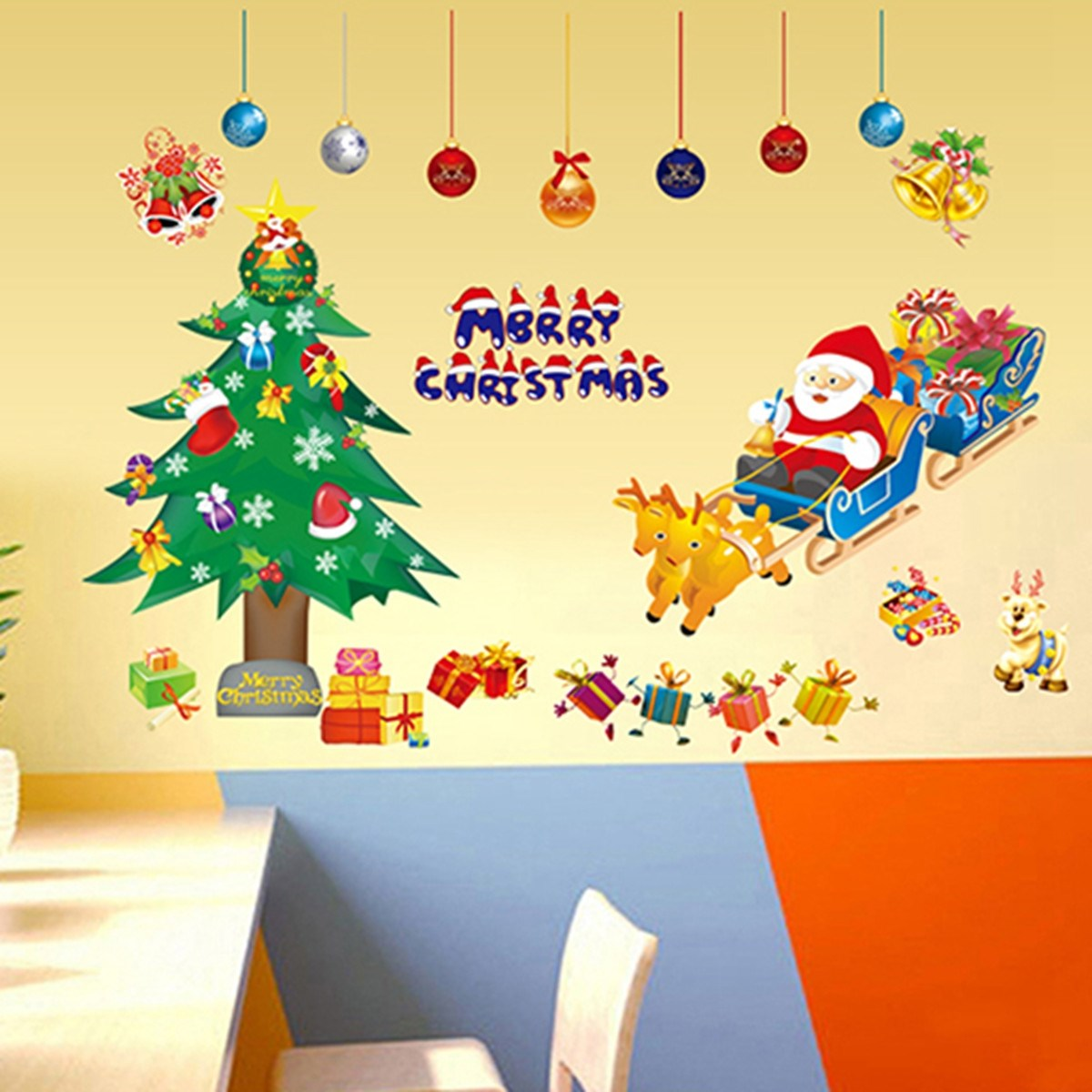 Removable Christmas Tree Wall Sticker Vinyl Mural Art Wall Decal ...