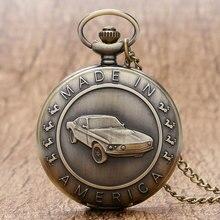 Antique Car Pocket Watch Classic Mustang Sedan Made In Ameri