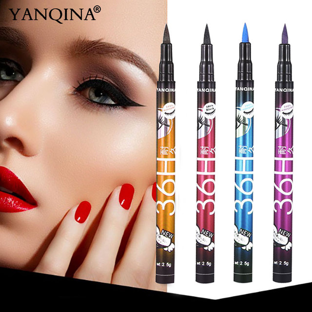 YANQINA 36H Black Waterproof Liquid Eyeliner Make Up Beauty Comestics Long-lasting Eye Liner Pencil Makeup Tools for eyeshadow 2