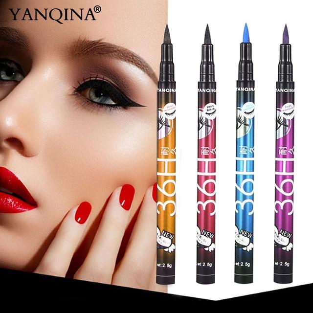 YANQINA 36H Black Waterproof Liquid Eyeliner Make Up Beauty Comestics Long-lasting Eye Liner Pencil Makeup Tools for eyeshadow 2
