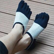 Новинка; хлопковые спортивные носки; тапочки; сезон лето-весна; невидимые носки для мужчин; спортивные сетчатые носки с пятью пальцами; мужские тонкие носки