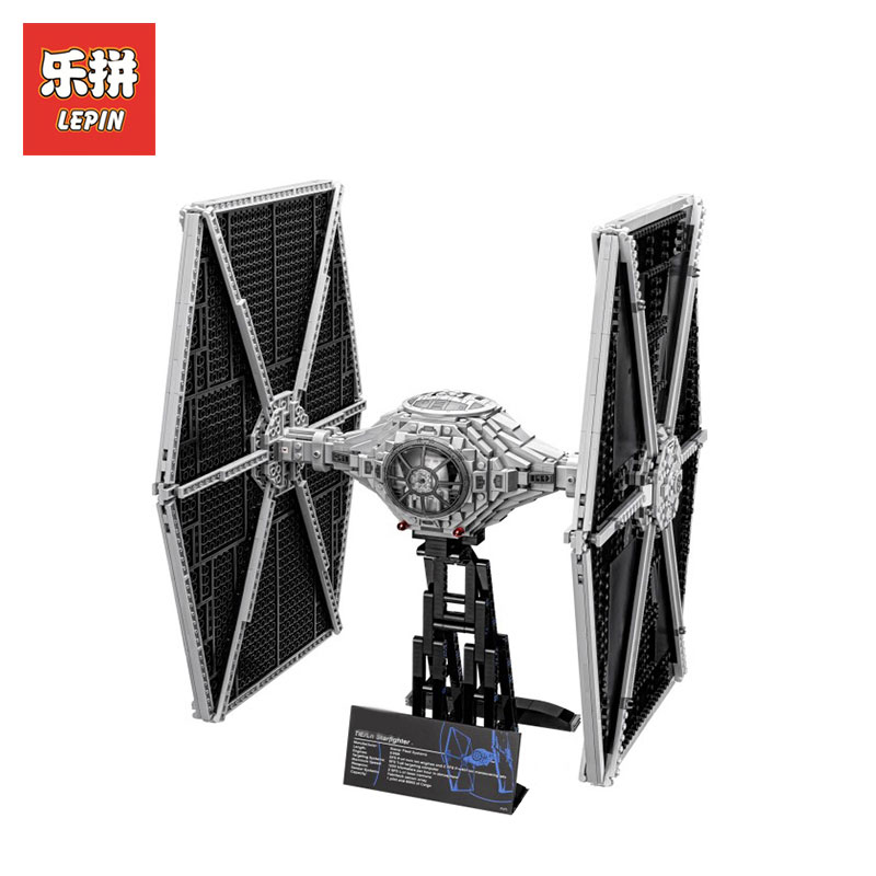 Lepin 05036 Star Wars Holiday toys 1685pcs TIE Fighter Model Building blocks Bricks Classic LegoINGlys 75095 Boys toys Gift new 1685pcs lepin 05036 1685pcs star series tie building fighter educational blocks bricks toys compatible with 75095 wars