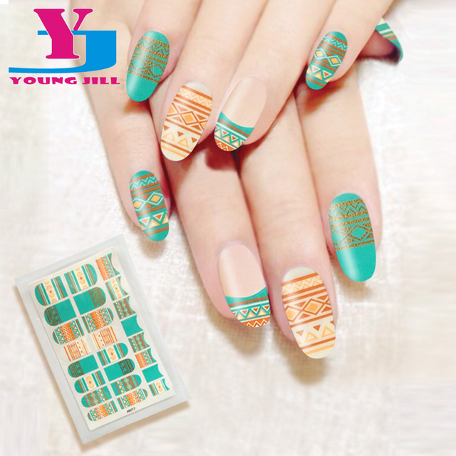 Bohemia Style Fashion Nail Art Stickers Spray Nail Polish Sticker