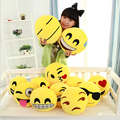 1pc Lovely 12 Styles Soft Emoji Smiley Emoticon Yellow Round Cushion Stuffed Plush Toy Doll Pillow Christmas Gift