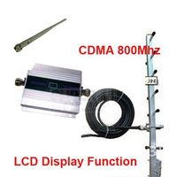 w/ cable and yagi antenna CDMA booster gain 55dbi LCD display function CDMA 850Mhz mobile phone signal booster repeater