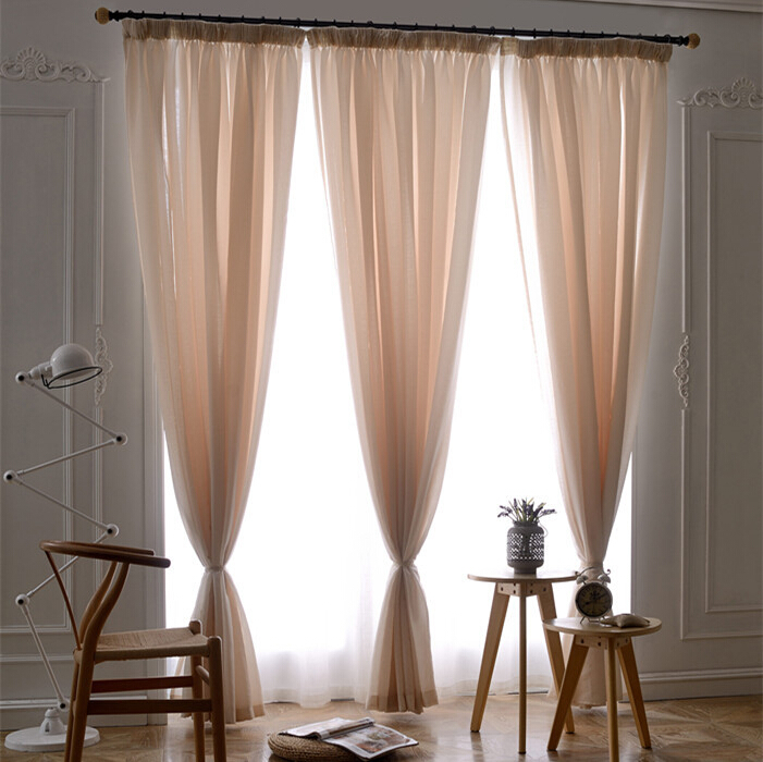 elegant solid yarn sheer curtains for bedroom flat window fabric tulle rideaux pour le salon. Black Bedroom Furniture Sets. Home Design Ideas