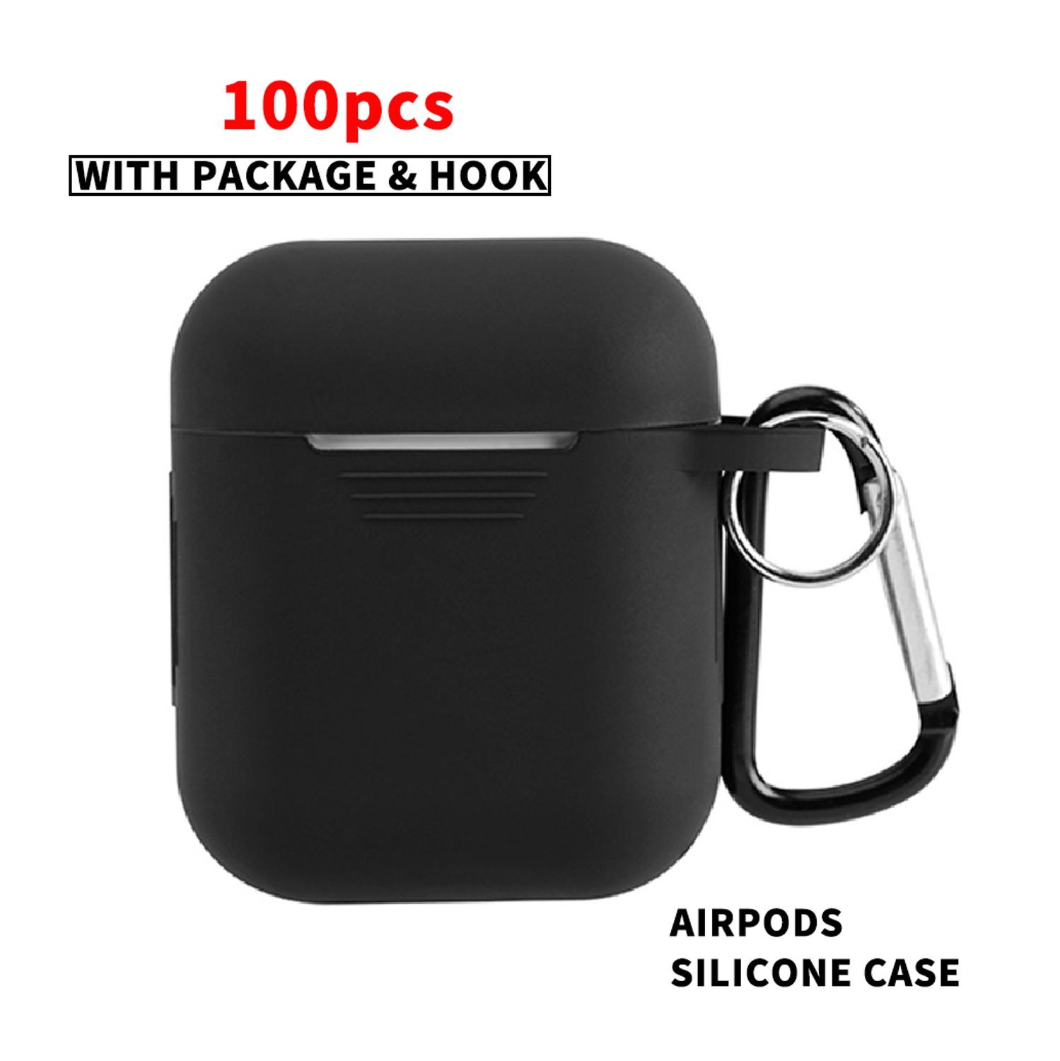 100PCS Ear Buds 2 Case For Apple Wireless Earphone Airpods Pro Case Air Pods 3 Cover Silicone Headphone Earpods Cover Acessories