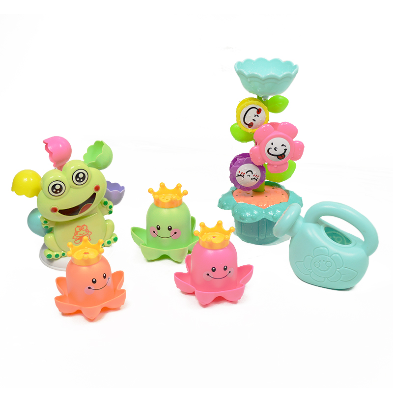 Cartoon Animals Baby Bath Toys Wheel Type Dabbling Shower Toys Funny Watering Spray Toy Children Water Spoon Gifts For Kids children swimming bath toy electric shower spray starfish