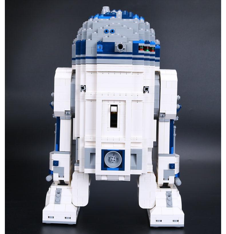 Express ship 2017 nouveau classique film thème jouet enfants jouet 2127 pièces assemblé blocs de construction robot jouet R2-D2 Star Wars série
