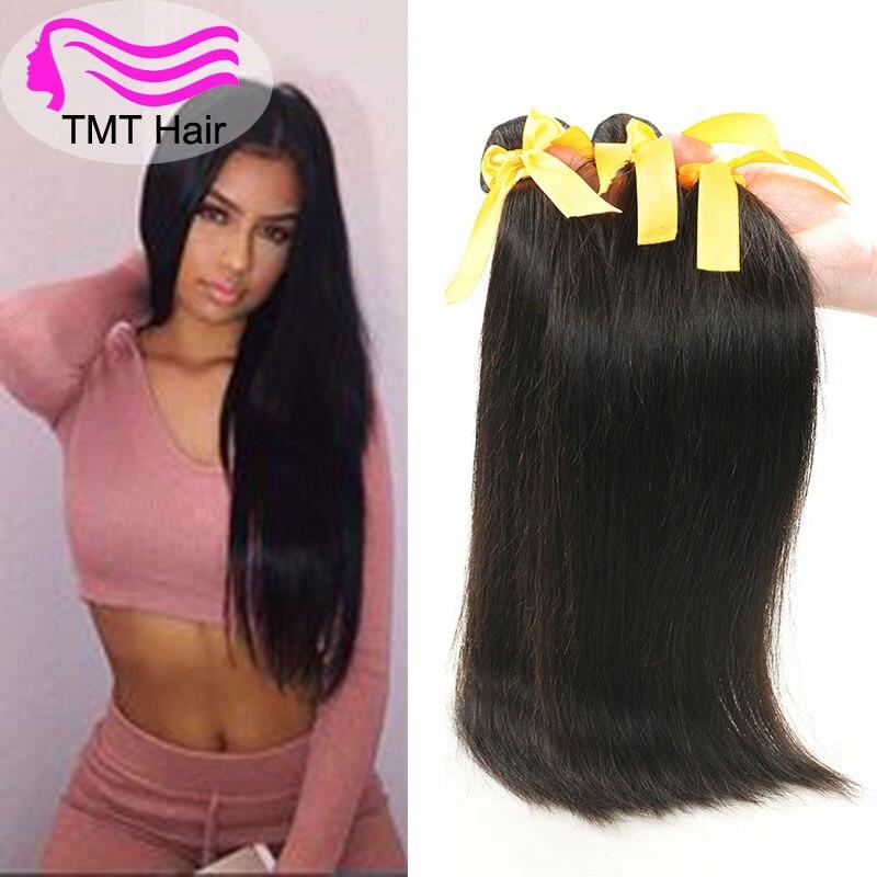 Tmt 10a Malaysian Virgin Hair Straight Cheap Human Hair Weave 4pcs 8