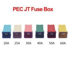 1 шт., автоматический квадратный предохранитель PEC JT 20A 25A 30A 40A 50A 60A для кондиционера, страховой вентилятор, розетка опционально