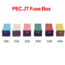 1PC PEC JT 20A 25A 30A 40A 50A 60A Insurance Auto Square Fuse Tube for Car Air Conditioning Insurance Fan,socket optional