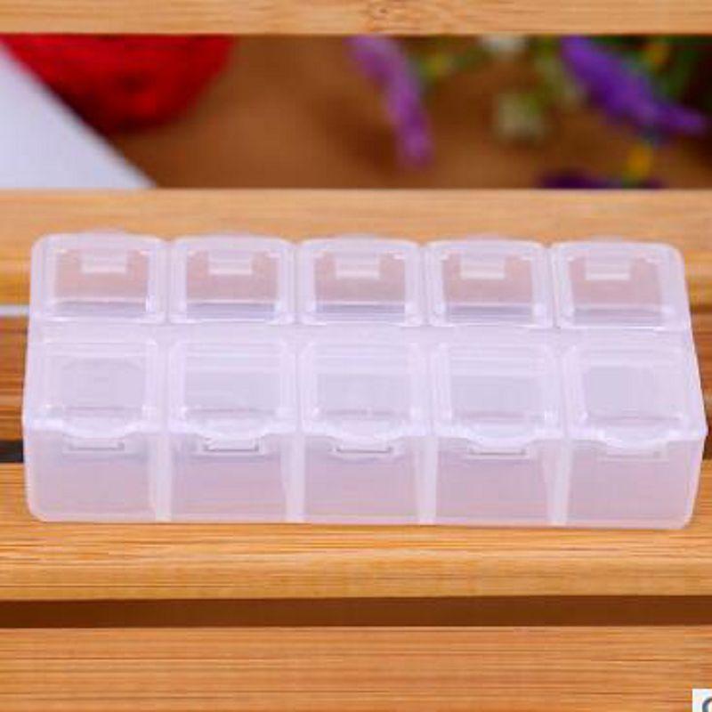 1 stuks 10 compartiment leeg plastic opbergdoos steentjes dired bloem - Home opslag en organisatie - Foto 2