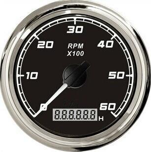 1pc Brand New Tachometers 6000RPM 12V / 24V For Boat Auto Motor Home Universal Black & White Color