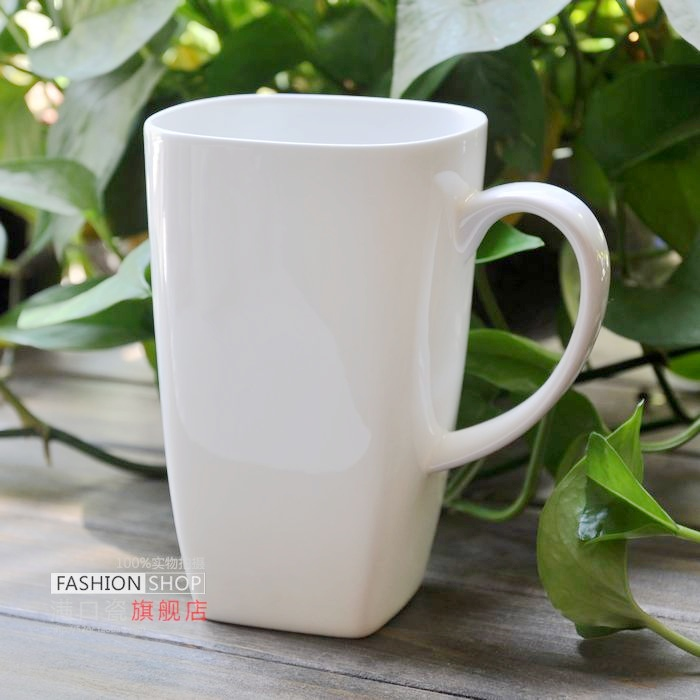 Online White Square Ceramic Awesome Series Large Coffee Cup Mug Bone China With Lid Aliexpress Mobile