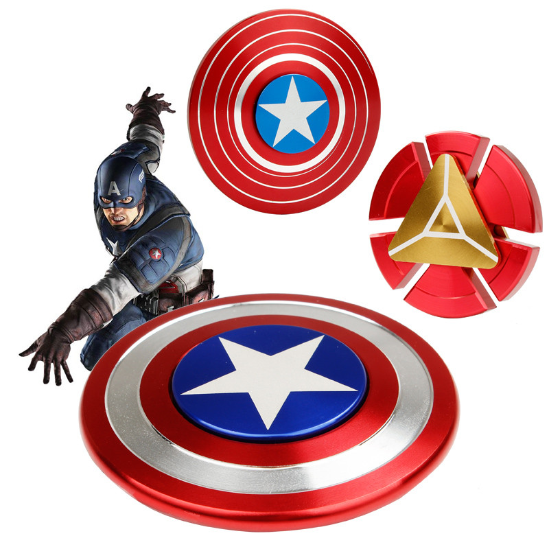 Iron Man Captain American Round Wheel EDC Fidget Spinner Hand Spinner for Autism ADHD Relief Focus