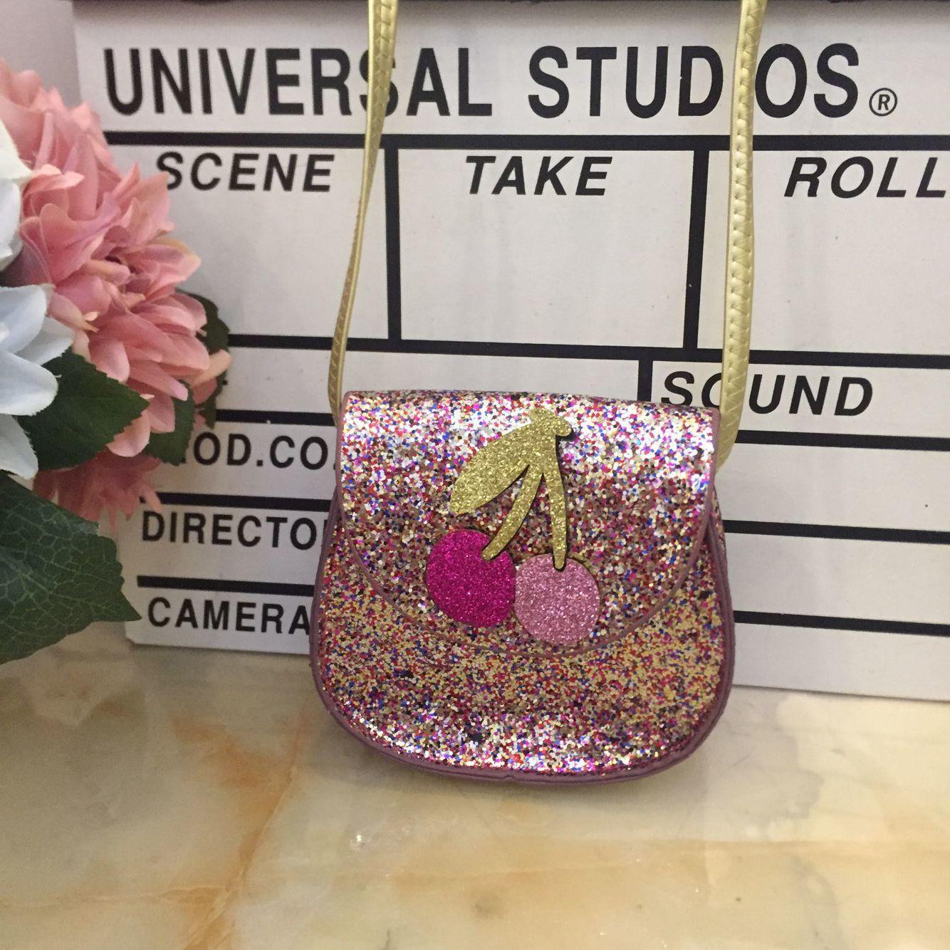 Kids Girl Crossbody Bags Princess Flower Sequin Evening Party Chain Sling Bag