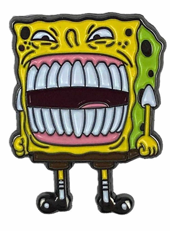 Spongebob squarepants enamel pin overtime meme hat backpack lapel pin