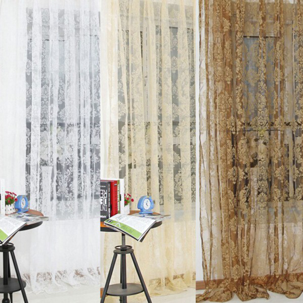 diseo de la hoja de x cm jacquard europea tulle telas cortinas para balcn