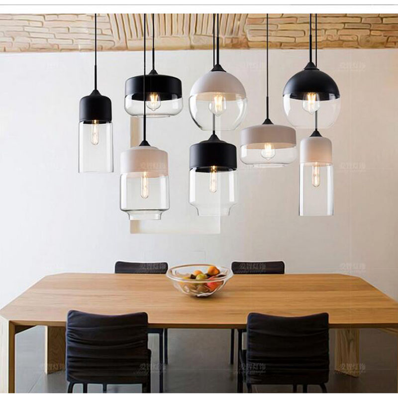 American simple creative personality living room bedroom glass pendant lamp single - head bar restaurant glass FG424 LU1023