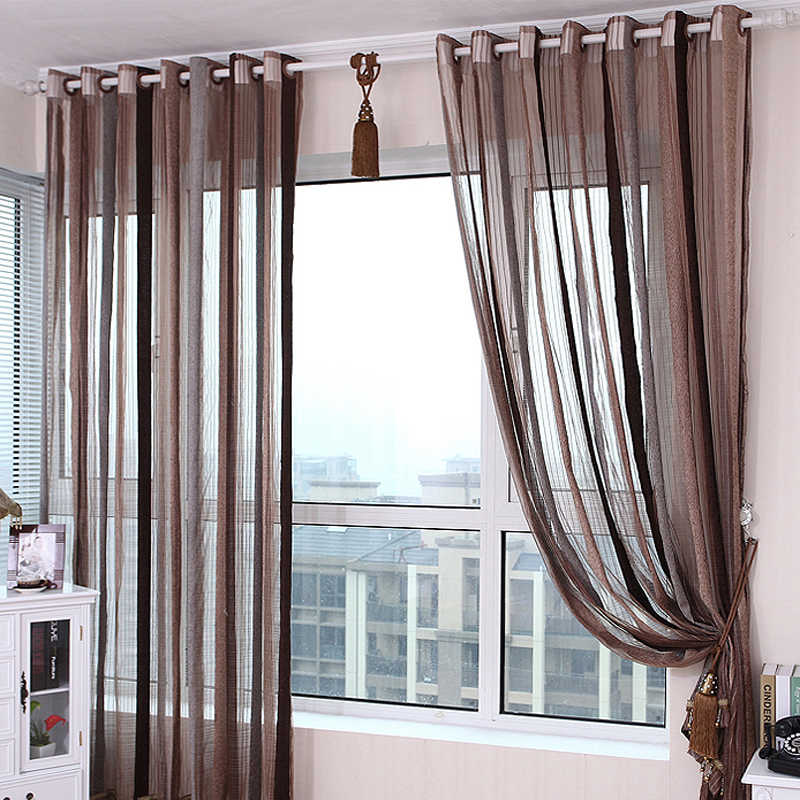 Sunshine Striped Curtains For Dining Room Bedroom Explosion Models  Mediterranean Style Windows Wedding Blinds WP291C
