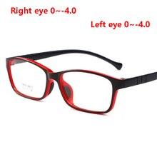 1,56 асферические линзы, детские очки по рецепту для безопасности детей TR90, очки для близорукости для мальчиков и девочек, черная красная оправа, 0~-4,0