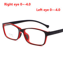 1.56 Aspherical Lens Kid Prescription Eyeglasses For Child Safety TR90 Girls Boys Myopia Glasses Black Red Frame 0~-4.0(China)