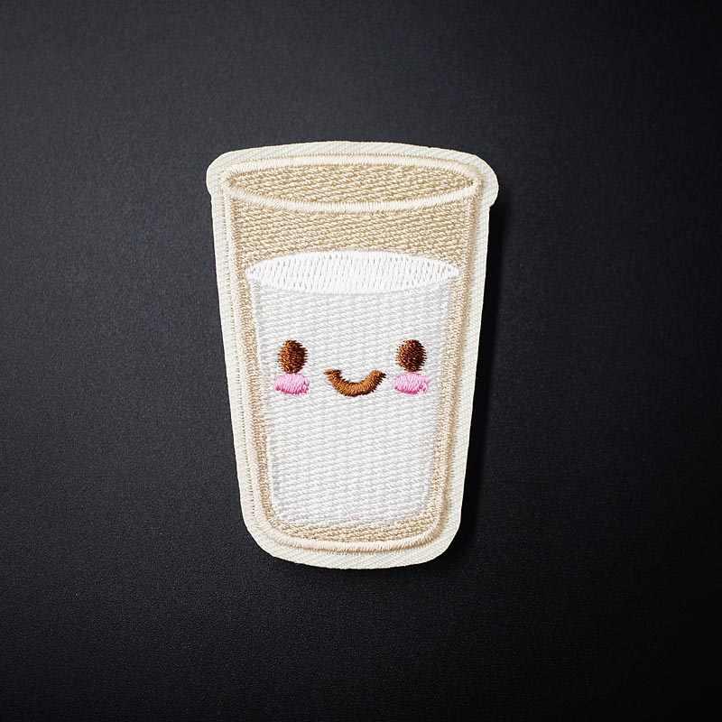 水 (サイズ: 4.2 × 6.0 センチメートル) 布バッジ飾る修復パッチジーンズジャケットバッグ服アパレル縫製装飾アップリケ