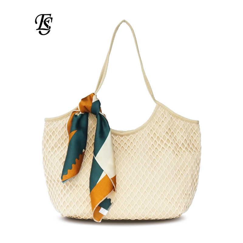 f95de2d1b2bb ... Холщовая сетчатая пляжная сумка 2019 новый тренд модная холщовая  Сетчатая Сумка женская сумка через плечо сумка ...