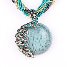 Best Cheap Crystal Long Stone Pendant Necklace for Women