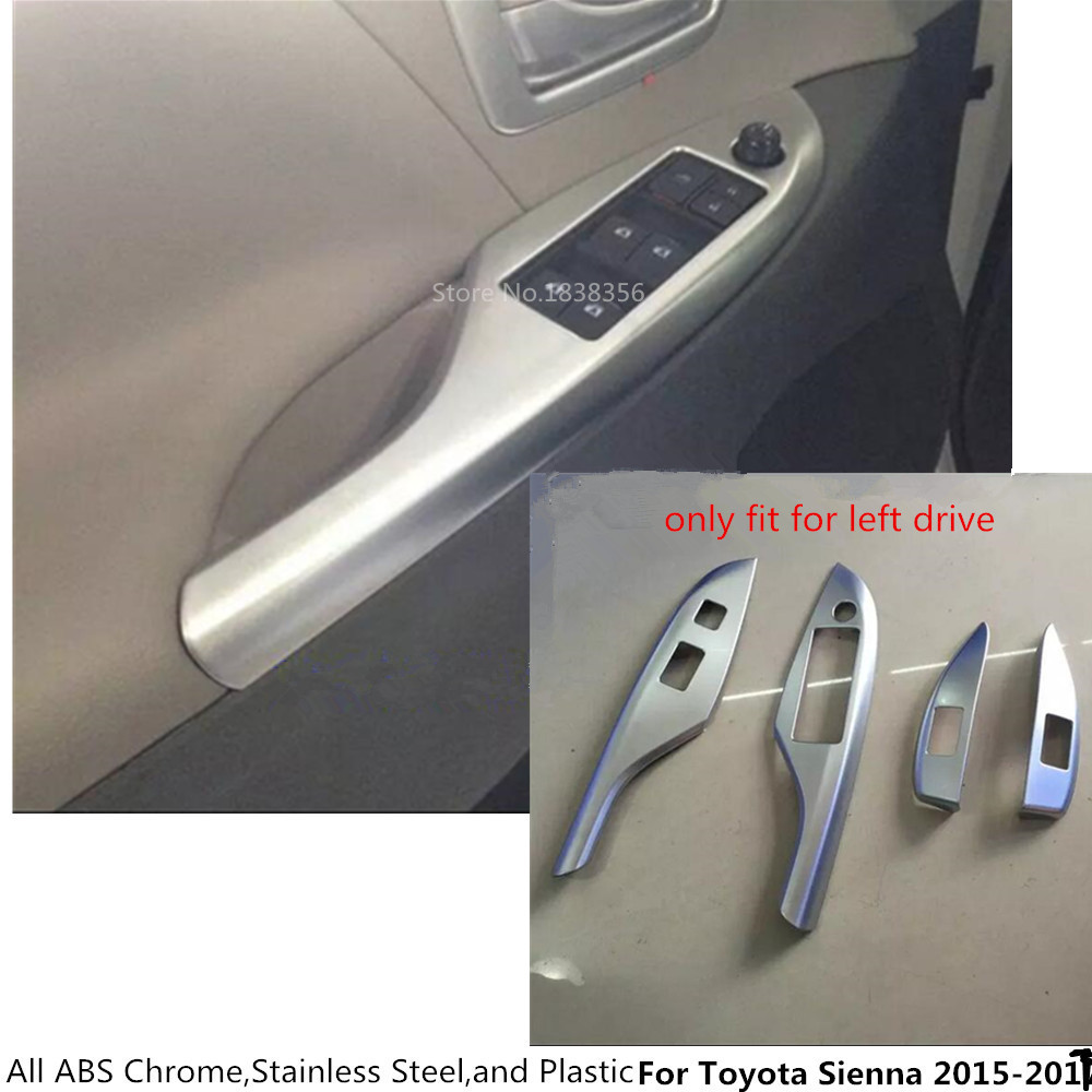 4pcs Cover Trim Molding Chrome Door Window Switch Panel for Toyota Camry 2018