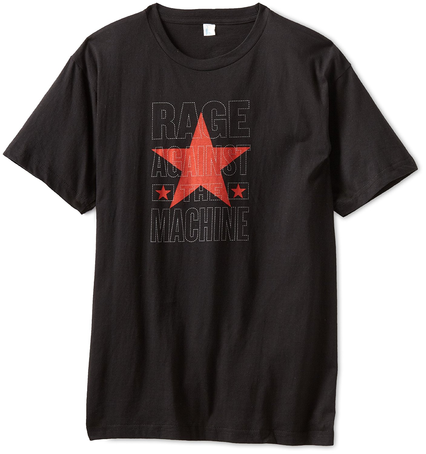 FEA Merchandising Mens Rage Against The Machine Stacked Star Slim Fit T-Shirt