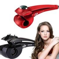 Popüler Showliss Otomatik Saç Curls Yeni Tasarım Elektrikli LCD Sihirli Saç Bigudi DIY Hairstyling Bukleler Styler Turmalin Seramik