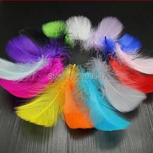 200 шт./лот 6-10 см многоцветный Nagorie гусиных перьев для свадебных цветов, fascinators, дерби шляпы и заслонки головного убора