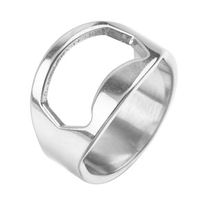 Aihogard 1 PC Beer Bottle Opener Kitchen Tools Unique Creative Versatile Stainless Steel Finger Ring-Shape Cans Wine Party Gifts