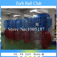 Free Shipping A Lot Of 1.0mm TPU 10 PCS(5 Red+5 Blue) Inflatable Zorb Ball,Bubble Soccer Bumper Ball For Sale