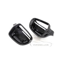 B8 TOP Quality PU Protect Carbon Mirror Caps for Audi A4 B8 2009-2012 A5 2007-2009 RS3 2012-2014 Replaced Side Mirror Cover