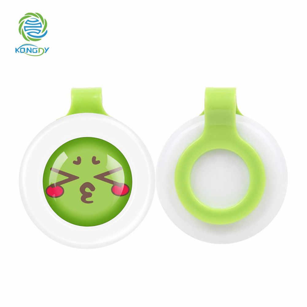 Marca KONGDY, 3 piezas, botón antimosquitos a prueba de sudor para bebés embarazadas, hebillas repelentes de mosquitos ecológicas de dibujos animados