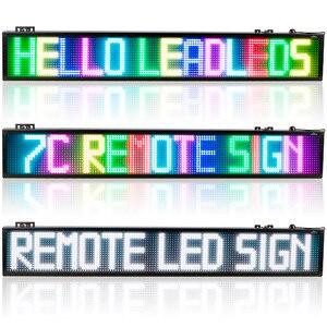 """Image 5 - 40 cal WIFI pełny kolor 7 kolor RGB SMD znak LED pilot zdalnego sklepowa forum, wywieszka z napisem """"open"""" programowalny przewijanie wyświetlacz ekran"""