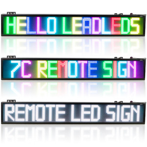 Image 5 - 40inch WIFI Full Color 7 color RGB SMD LED Signs Remote Storefront Message Board,Open Sign Programmable Scrolling Display screen