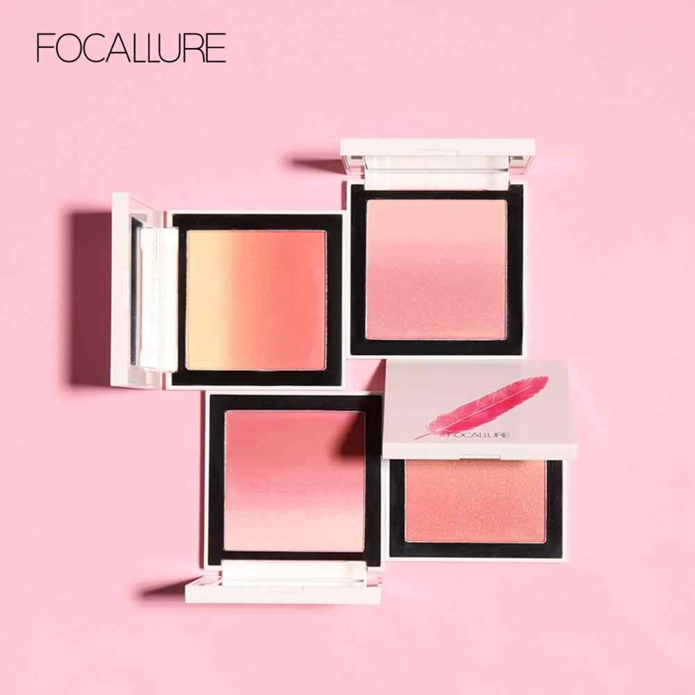 2019 FOCALLURE Face Blush palette Natural pink cheek Silky orange powder blusher waterproof face blush with mirror