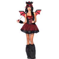 Deluxe Horrific Dragon Tutu Skirt Wings Hood And Fur Cover Boot Dragon Costume Cute Sexy Girls