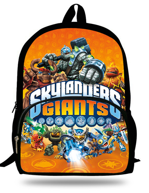 eba9ab0497 Cartoon Mochila School Backpack Skylanders Academy Season Print Children  School casual Bag for Teenage Girls boys Backpacks
