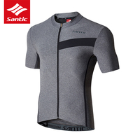 Santic Cycling Jersey Men Maillot Ciclismo MTB Bike Shirt Downhill Jersey Road Tops Close Short Sleeve Bicycle Cycling Clothes