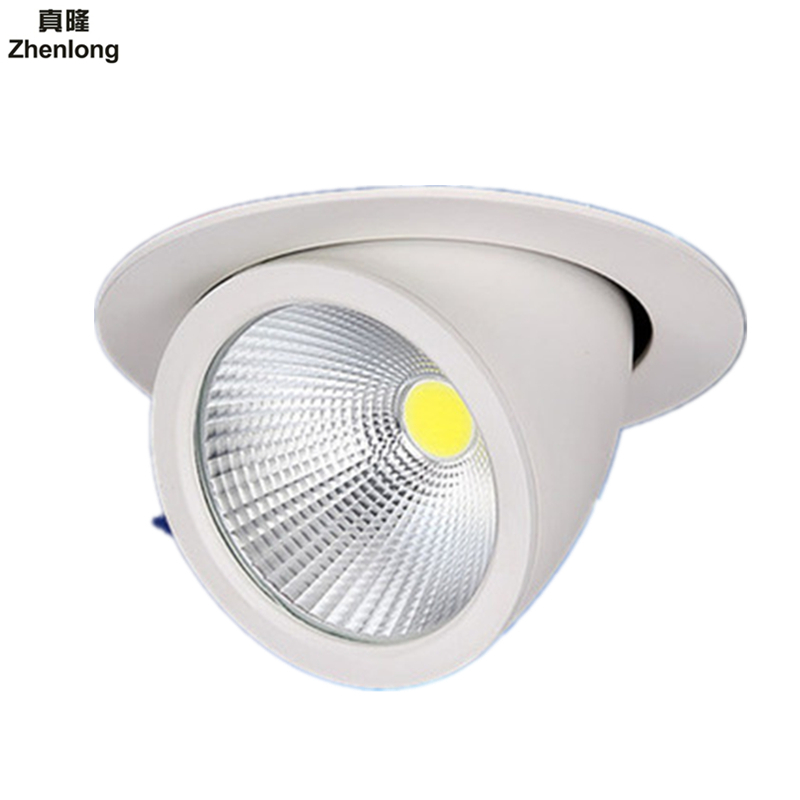 10W 15W 20W 30W 50W COB Led downlights Surface Mounted Ceiling Spot light 360 degree Rotation Ceiling Downlight White AC85-265V 10pcs lot dimmable led downlight 20w 30w ac85 265v very bright led cob chip canister light embedded ceiling white warm white