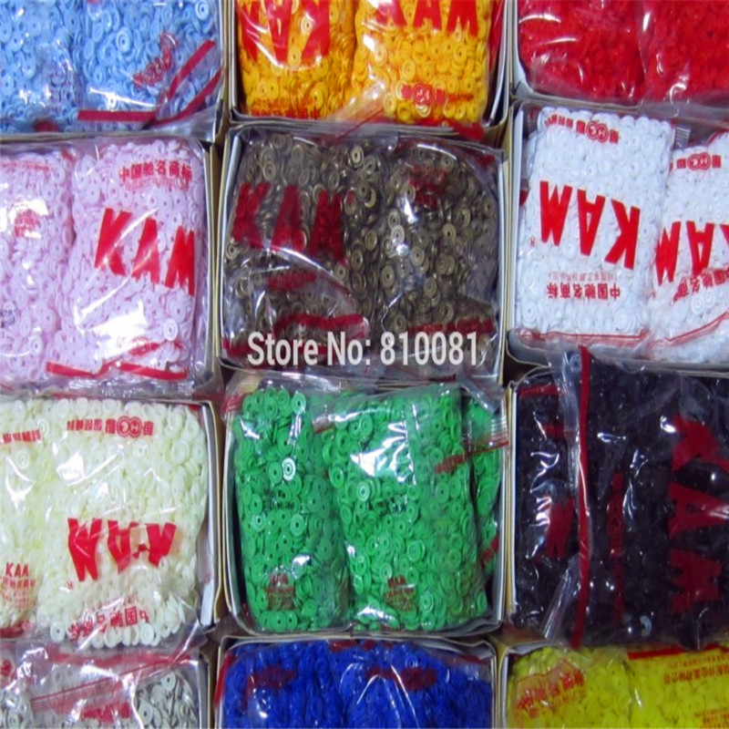 KAM Glossy Face Matt Face Finish T08 T3 T5 T8 Round PLASTIC SNAPS FASTENER T5 Star RESIN SNAP BUTTONS , 1000 Sets/Color , BB02