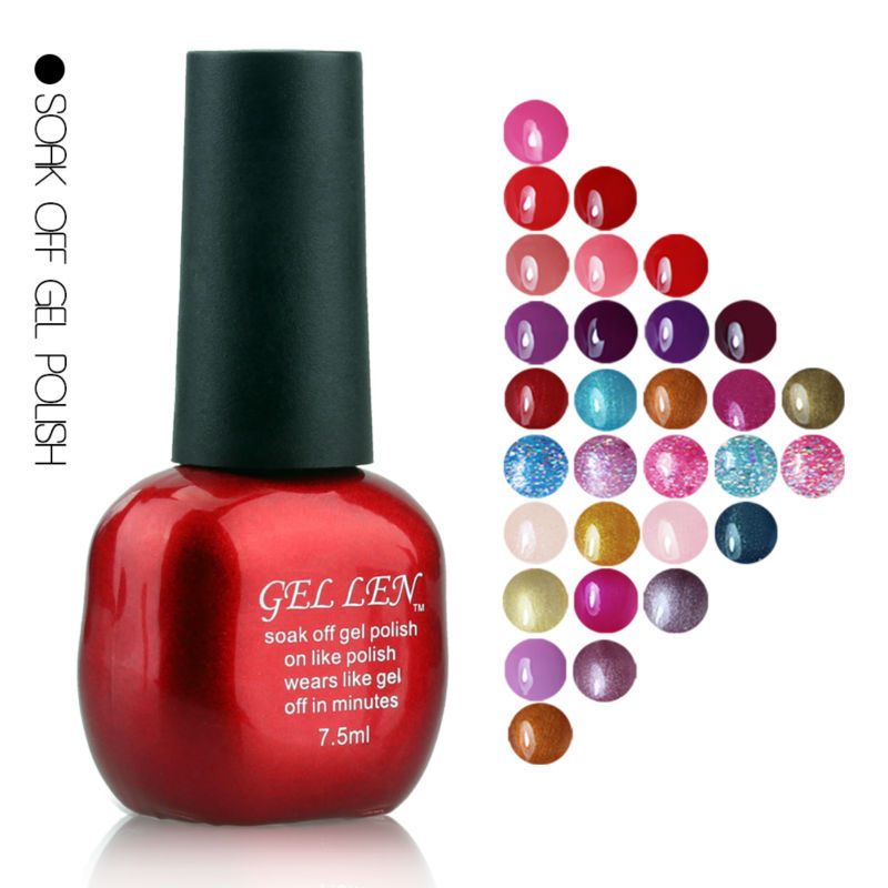 Gel Nail Polish Sale: Gel Len Nail Polish UV Soak Off Gel Polish Long Lasting